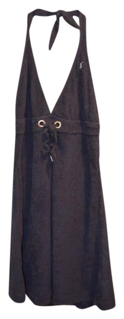 Item - Navy Blue Polo Halter Top Beach Dress Large Cover-up/Sarong Size 12 (L)