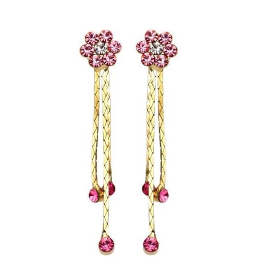 Preload https://img-static.tradesy.com/item/21372508/pink-gold-swarovski-crystals-flower-s7-earrings-0-0-540-540.jpg