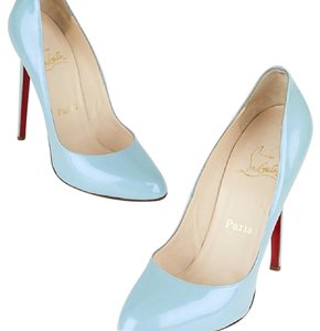 Christian Louboutin blue patent leather Pumps