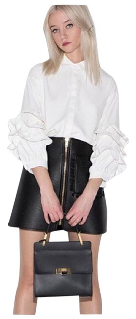 Preload https://img-static.tradesy.com/item/21372538/white-ruffle-sleeve-button-up-stretch-d40-blouse-size-8-m-0-1-650-650.jpg