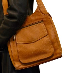 Fossil Vintage Pockets Leather Shoulder Bag