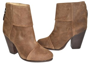 Rag & Bone Heel Ankle WAXED SUEDE LEATHER Boots
