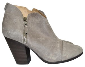 Rag & Bone Heel Ankle WAXED SUEDE LEATHER GREY Boots