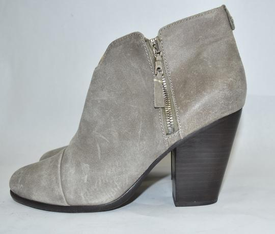 Rag & Bone Heel Ankle WAXED SUEDE LEATHER GREY Boots Image 1