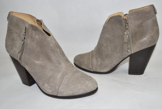 Rag & Bone Heel Ankle WAXED SUEDE LEATHER GREY Boots Image 2