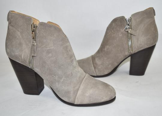 Rag & Bone Heel Ankle WAXED SUEDE LEATHER GREY Boots Image 3