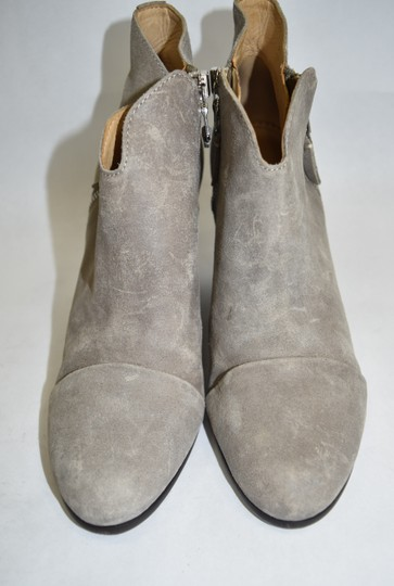 Rag & Bone Heel Ankle WAXED SUEDE LEATHER GREY Boots Image 5