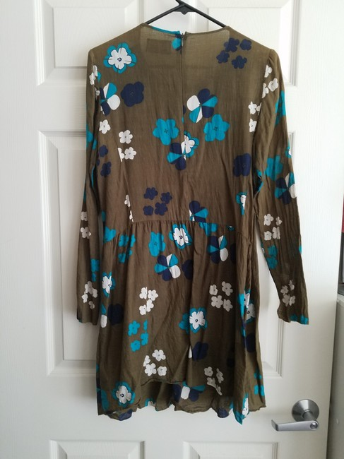 Zadig & Voltaire short dress Olive Flowers Ruched Sundress on Tradesy Image 1