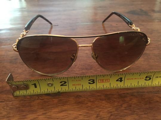 4d0f47fe1a0 Gucci Chain Link Aviator Sunglasses With Crystals Replica ...