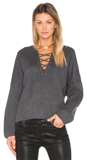 Preload https://img-static.tradesy.com/item/21372816/vince-gray-lace-up-front-sweatshirt-heather-graphite-sweaterpullover-size-4-s-0-1-650-650.jpg
