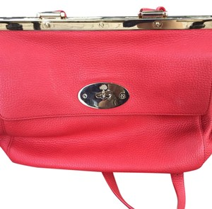 Mulberry Satchel in red