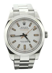 Rolex Rolex oyster perpetual milgauss stainless steel white dial 40mm