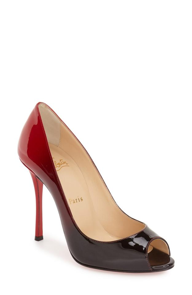 Christian Louboutin Red Degrade Black Degrade Red Yootish Pumps 3dcb58