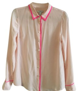 J.Crew Button Down Shirt Pink with magenta