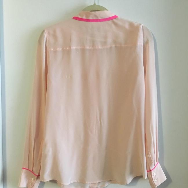 J.Crew Button Down Shirt Pink with magenta Image 1