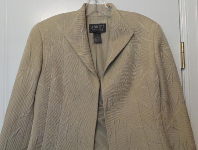 Lafayette 148 New York Silk Medium Stand Up Lightweight Beige (perhaps leaning twoards sage green) Jacket Image 1