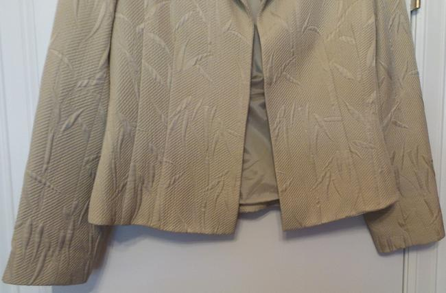 Lafayette 148 New York Silk Medium Stand Up Lightweight Beige (perhaps leaning twoards sage green) Jacket Image 2