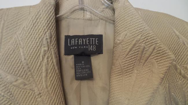 Lafayette 148 New York Silk Medium Stand Up Lightweight Beige (perhaps leaning twoards sage green) Jacket Image 3