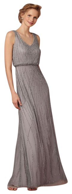 Item - Slate Polyester; Polyester Lining Brooklyn Vintage Bridesmaid/Mob Dress Size 2 (XS)