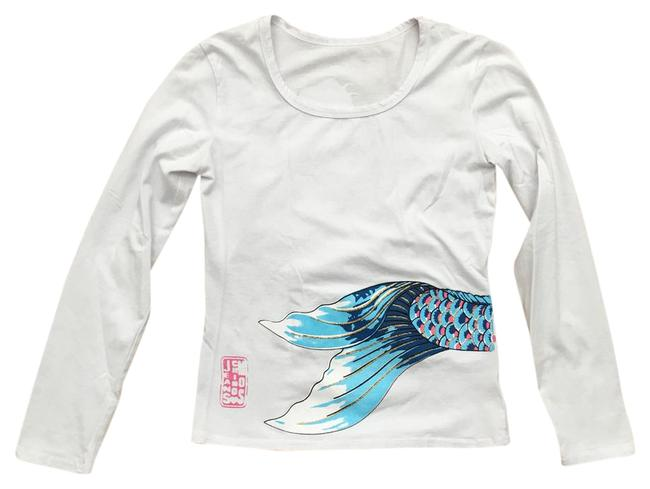 Item - Blue Pink Rose Gold Jeans Tee Shirt Size 2 (XS)
