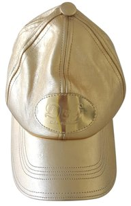 Dolce&Gabbana Dolce & Gabbana Gold Leather Baseball Hat