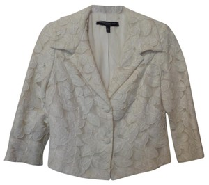 Carmen Marc Valvo Lightweight White Party Lace Embroidered New Ivory Jacket