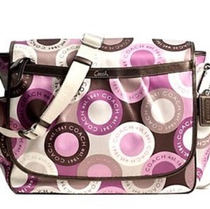Coach Pink Multi Diaper Bag