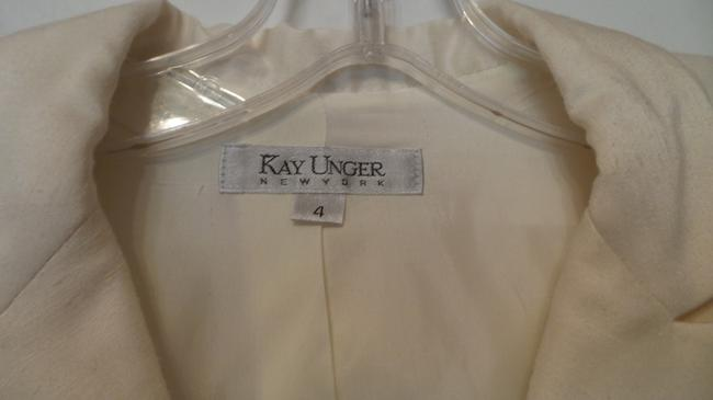 Kay Unger Lightweight White Party Embroidered New Dupioni Ivory Blazer Image 8