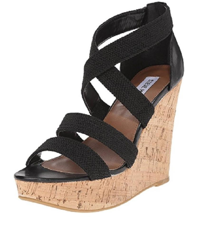 71d219d3acf Black Strappy Wedge Sandals
