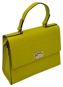 Kate Spade Summer Yellow Embossed Croc Leather Shoulder Bag