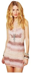 Free People short dress Multi, Earth Tones All You Ever Wanted Crochet on Tradesy