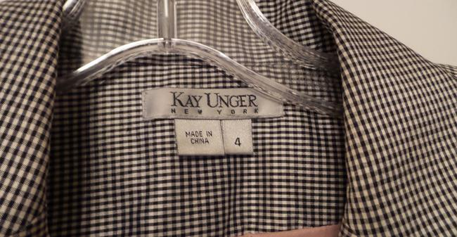 Kay Unger New Silk Embroidered Ruched Lightweight Black & white Jacket Image 8