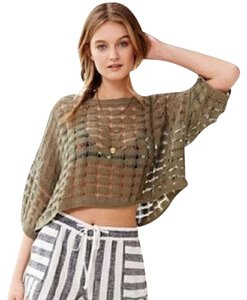 Urban Outfitters Ecote Open Weave Crop Sweater