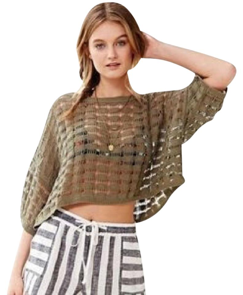 Urban Outfitters Ecote Open Weave Crop Ivory Sweater Tradesy