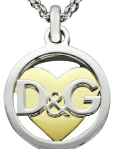 Dolce&Gabbana Signature Preppy Heart Stainless Steel Necklace and Pendant DJ0885