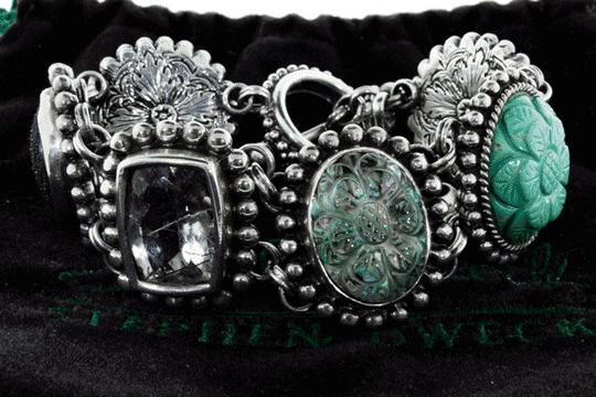 Stephen Dweck MUST SEE - Stephen Dweck Silver statement bracelet with Ori Pouch Image 2