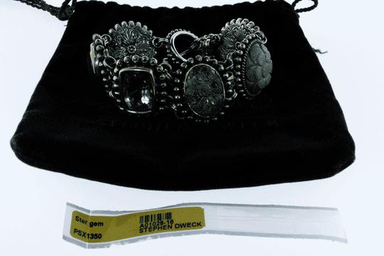 Stephen Dweck MUST SEE - Stephen Dweck Silver statement bracelet with Ori Pouch Image 3