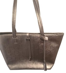 Vince Camuto Leather New Tote in Silver