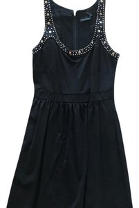 Cynthia Rowley short dress black with a pop of silver on Tradesy