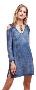 Anthropologie short dress Blue Anthro Shirt Comfy Cloth&stone on Tradesy