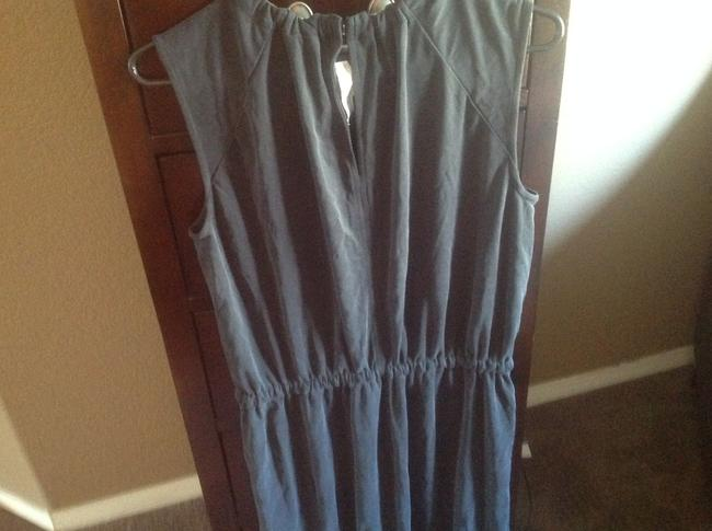 Ann Taylor LOFT short dress Gray Mid Length Charcol Color Tie Waist New With Tags on Tradesy Image 4