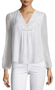 Diane von Furstenberg Gossamer Silk New With Tags. Dvf Ethereal V-neck Top Ivory