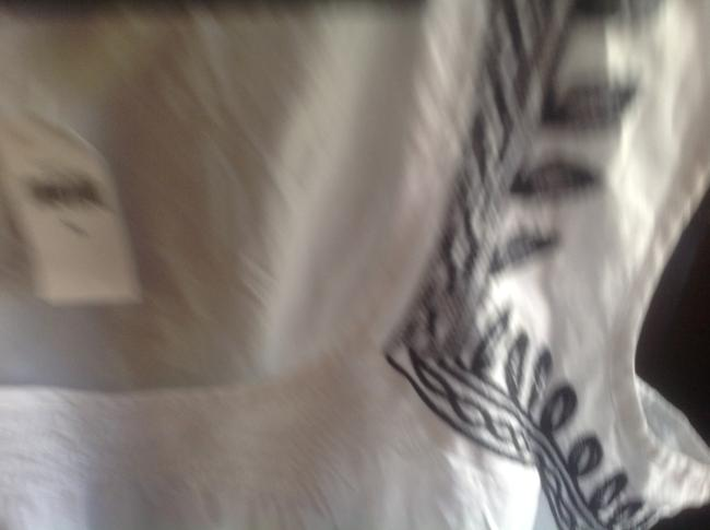Banana Republic Sleeveless With With Tags Top White and navy blue ethching Image 6