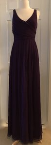 J.Crew Eggplant Heidi In Silk Chiffon Purple Bridesmaid/Mob Dress Size 4 (S)