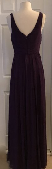 J.Crew Eggplant Heidi In Silk Chiffon Purple Bridesmaid/Mob Dress Size 4 (S) Image 2