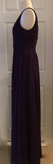 J.Crew Eggplant Heidi In Silk Chiffon Purple Bridesmaid/Mob Dress Size 4 (S) Image 3