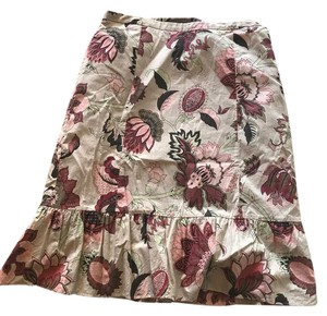 Ann Taylor Skirt beige skirt with flowers