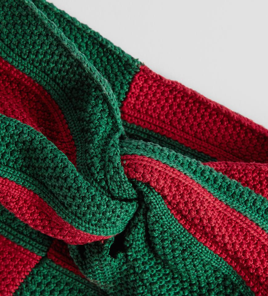 b31069f5aae Gucci Red   Green Sold Out Runway Web Cotton Headband In Signature ...
