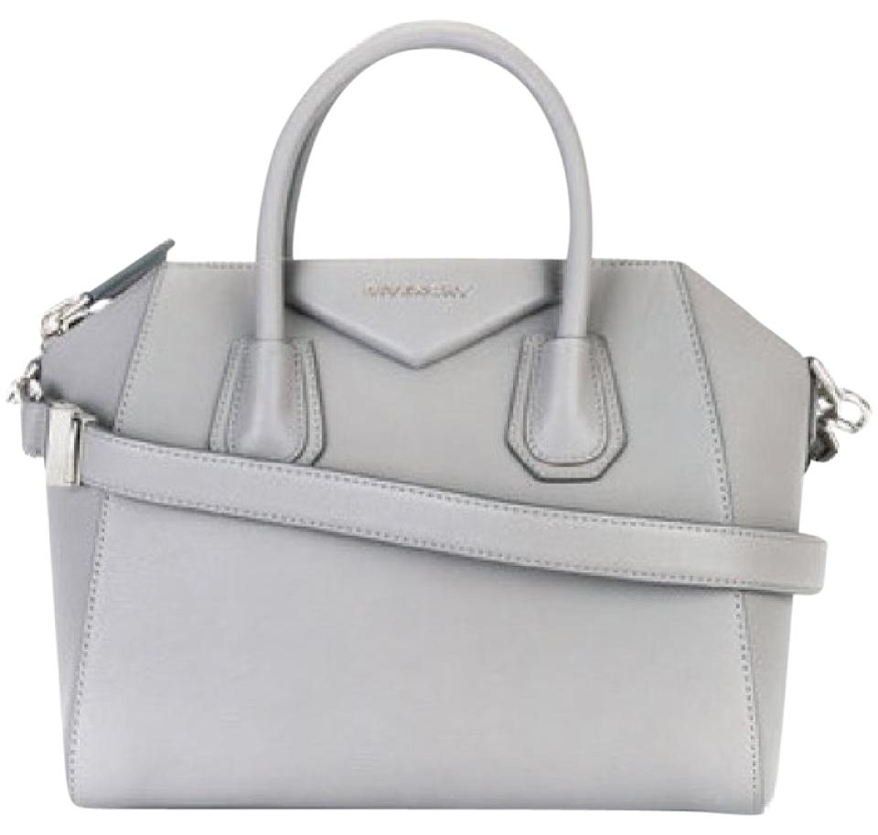 c202ce2a6a Givenchy Antigona Small Pearl Grey Leather Satchel - Tradesy