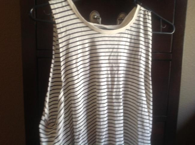 Denim & Supply Sleeveless White Strip Crossover With Tags Top Beige and black stripes Image 7